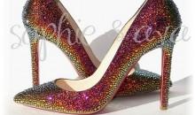 High Heels With Swarovski Crystals