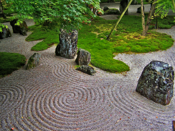 Image result for zen garden rocks and gravel backyard