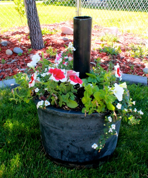 Easy DIY Flowerpot Umbrella Stand : Site For Everything