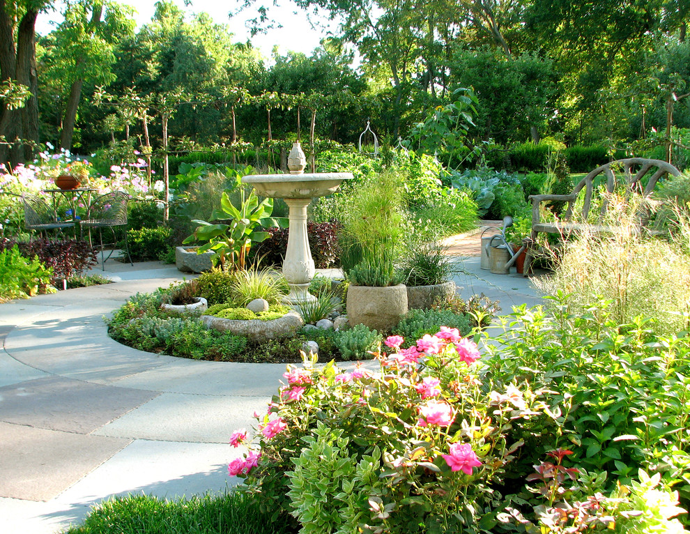 English garden in your backyard for Garden landscape plan