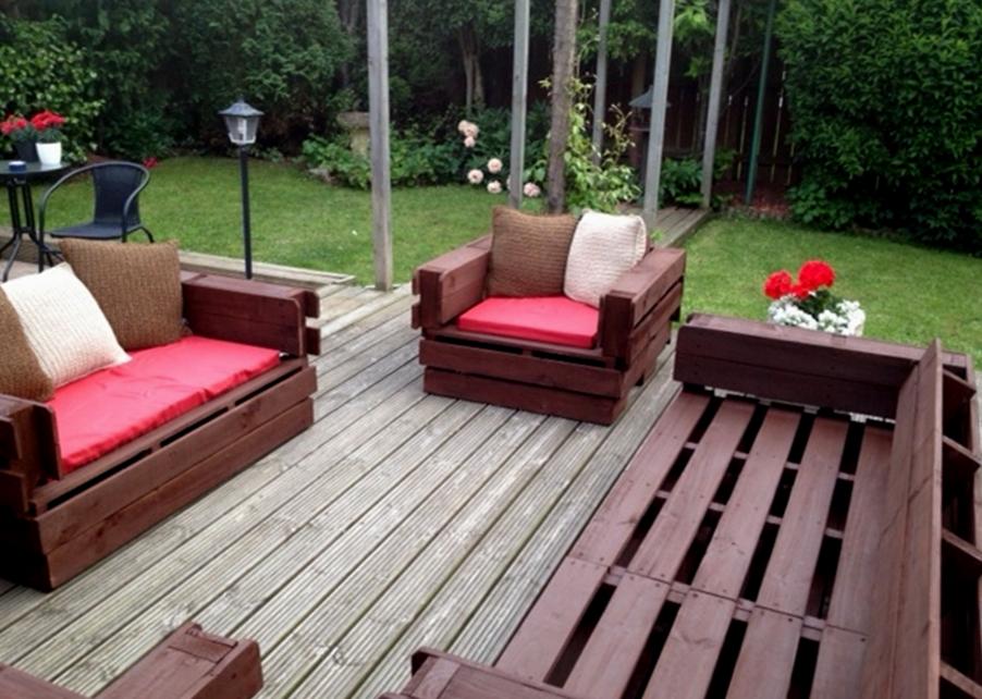 how to make a pallet garden sofa 2