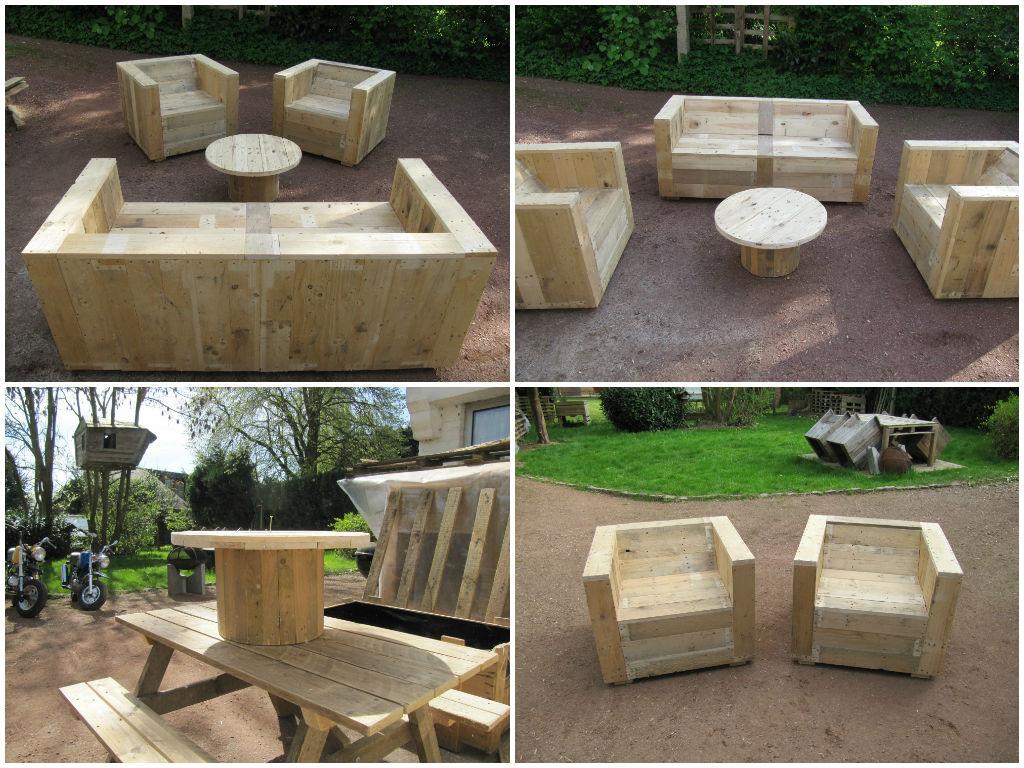 Diy cheap garden furniture for Diy wooden garden furniture