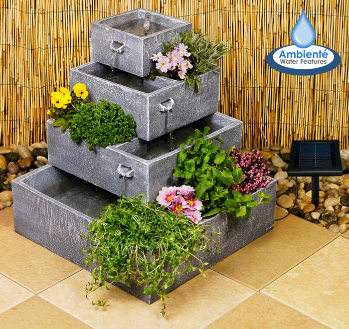 The Solar Garden Fountains Are Inexpensive And Can Be Found In Different  Designs, Shapes And Sizes. But, If You Are More Into The DIY Projects, ...