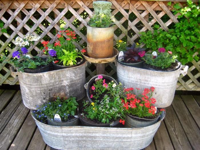 Unusual Diy Recycled Flowerpots