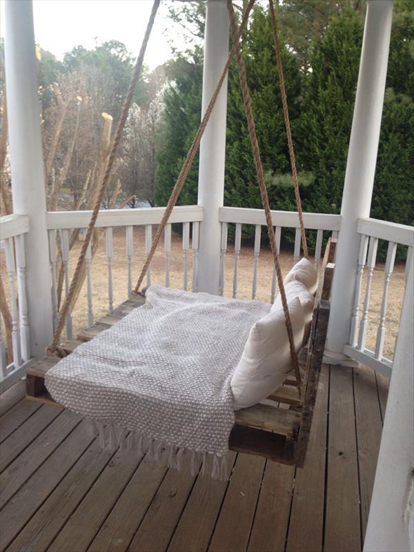 DIY pallet swing bed 6