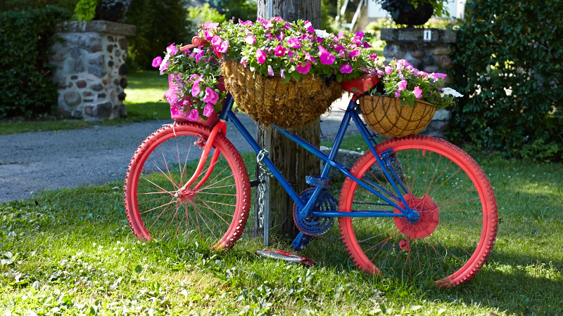 Bicycles Are Not Just For Riding Any More! You See Them Repurposed In Home  Decor, Art And They Are Blooming Everywhere In Gardens.