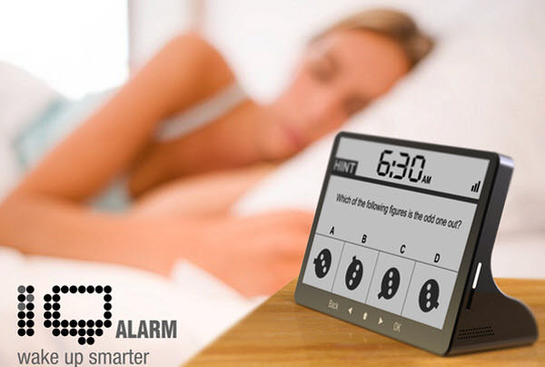 Hereu0027s One For Mensa Group Members; The IQ Alarm Clock Doesnu0027t Take A  Snooze For An Answer. To Make It Stop Ringing, Solve An IQ Question, And  This Is Not ...