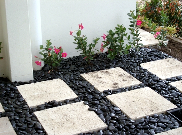 Plant Some Decorative Plants In The Garden, Or Make Beautiful Flower Beds  And Add Pebbles To Spice Up The Whole Look. Pebbles Will Look Good Combined  With A ...