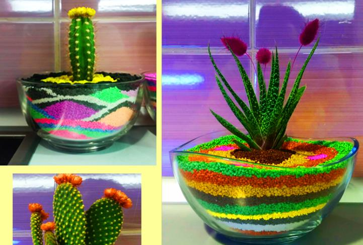 Layered Sand Planter Feat