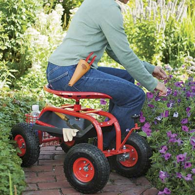 Take It Easy On Your Back And Knees This Spring With The Garden Scoot, A  Steer Able Stool That Lets You Roll From Plant To Plant. The Comfy  Tractor Style ...