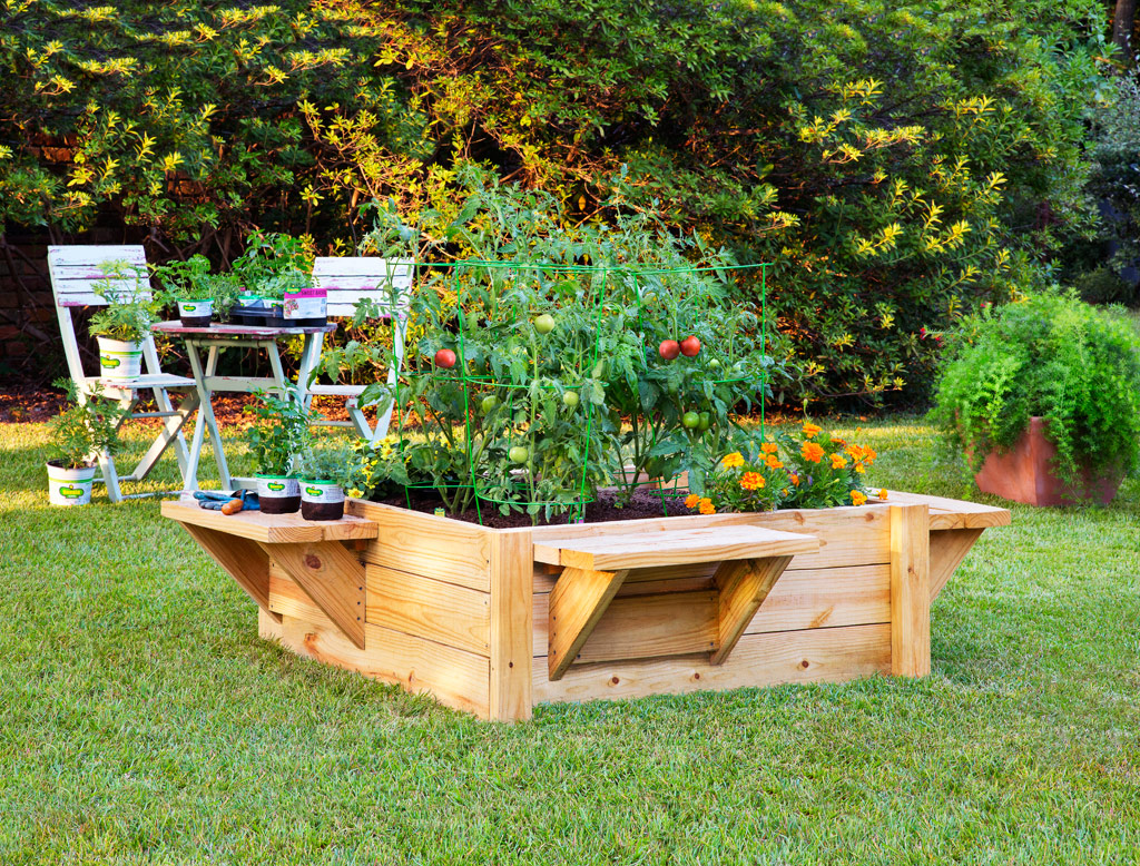 source raised bed with benches unique raised garden bed ideas
