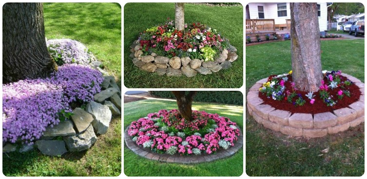 garden decorating ideas 15 small flower gardens around trees - Flower Garden Ideas Around Tree