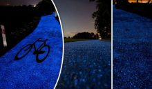 Awesome Glow In The Dark Solar Powered Bicycle Path Unveiled In Poland