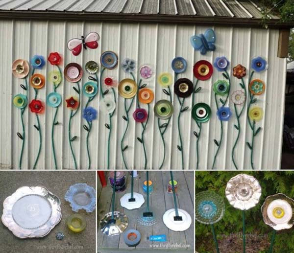 DIY Garden Art Flowers 01