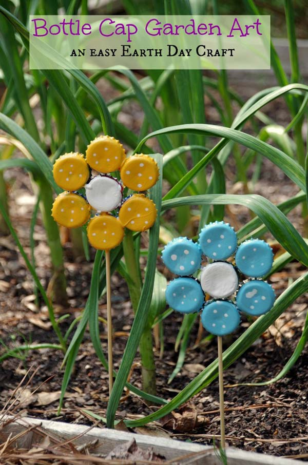 DIY Garden Art Flowers 05