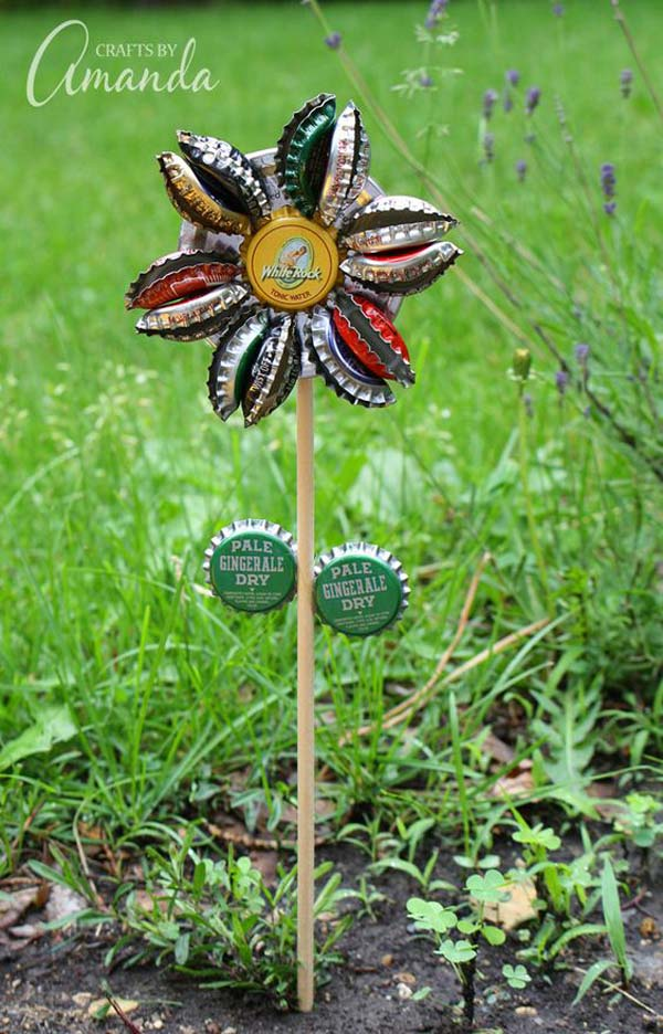 DIY Garden Art Flowers 06