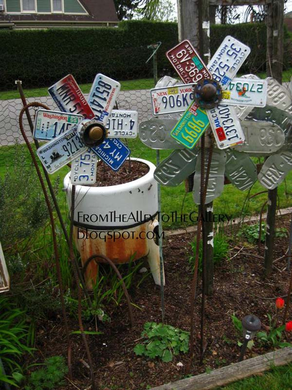 DIY Garden Art Flowers 08
