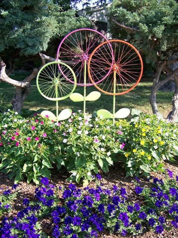 DIY Garden Art Flowers 11