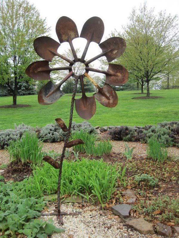 DIY Garden Art Flowers 12