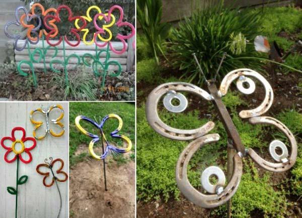 DIY Garden Art Flowers 17