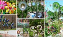 20 Truly Easy and Low-budget DIY Garden Art Flowers