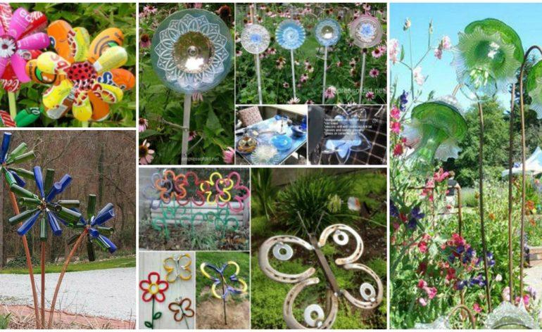 DIY Garden Art Flowers Feat