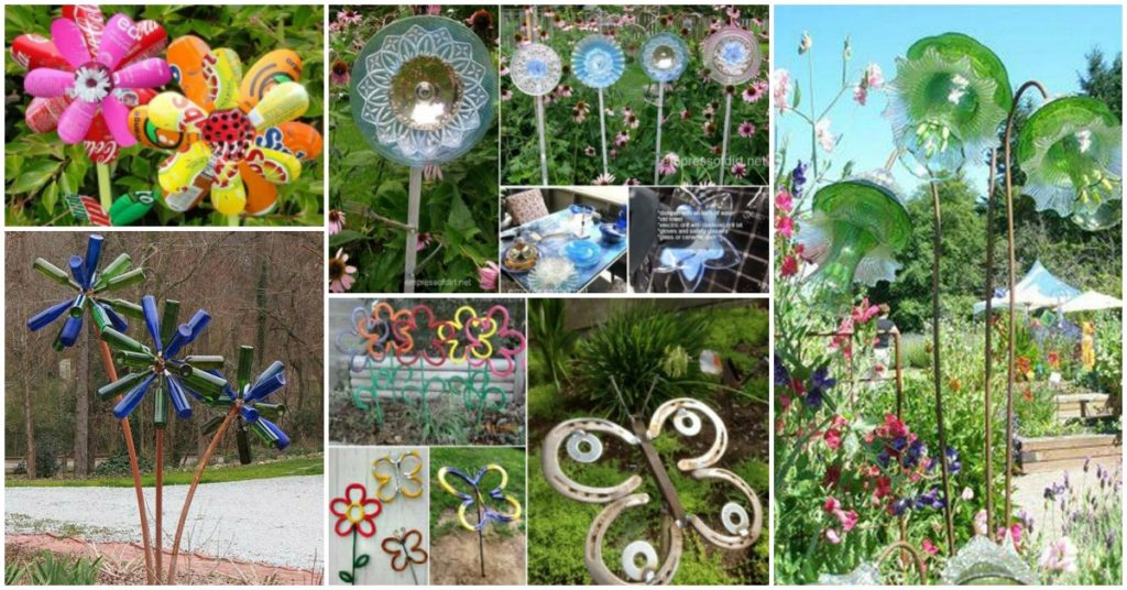 DIY Garden Art Flowers Feat