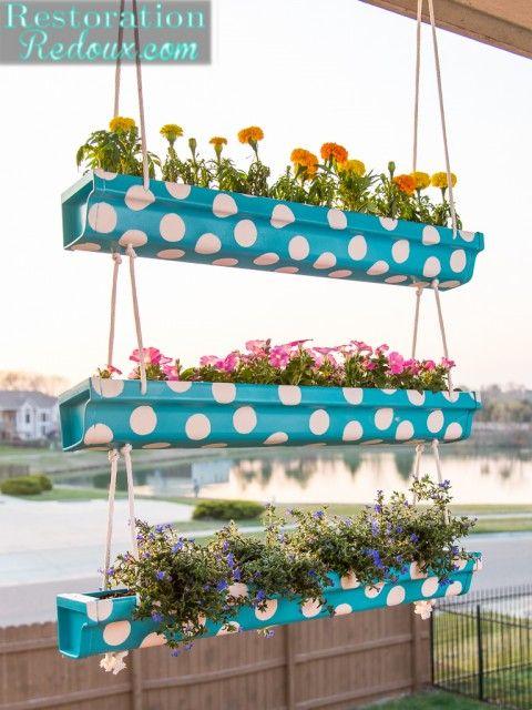 18 Easy Diy Gutter Garden Ideas