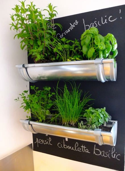 Gutter Garden Ideas 05