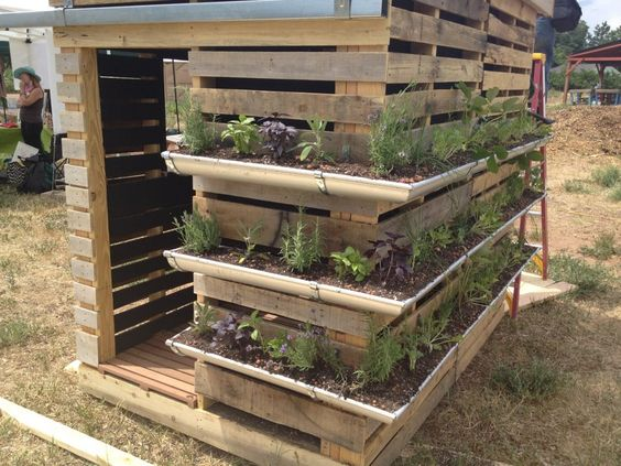 Gutter Garden Ideas 10