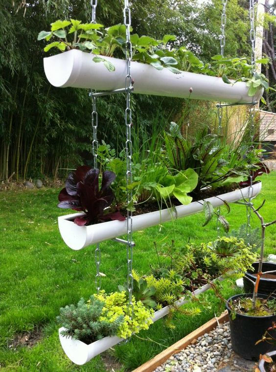 Gutter Garden Ideas 12