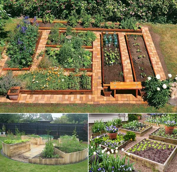 20 Raised Bed Garden Designs And Beautiful Backyard: 20+ Ways For Growing A Successful Vegetable Garden