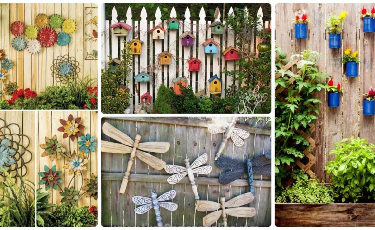 12 incredible ways to decorate your fence site for for Decorating your backyard fence