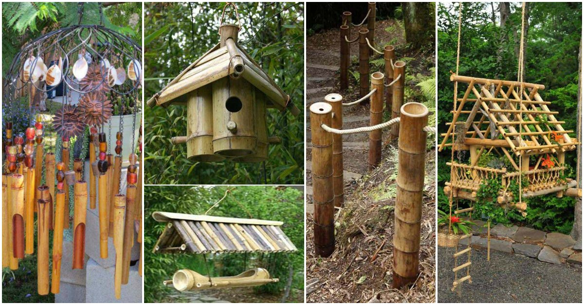 Top 16 Easy And Attractive Garden Diy Projects Using Bamboo