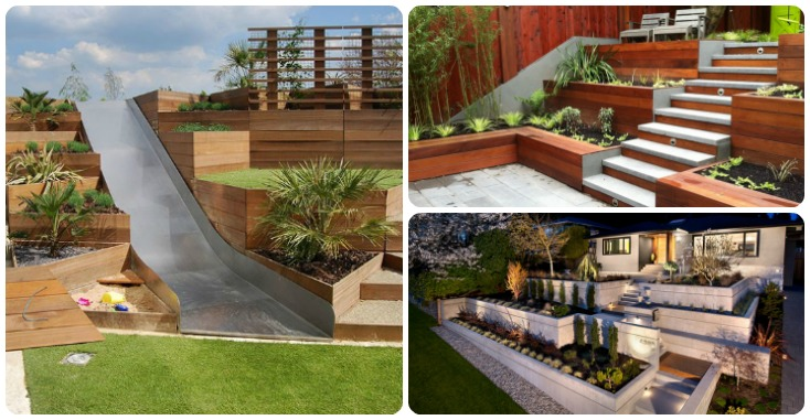 13 Terraced Planter Ideas For Adding Visual Appeal To Your ... on Terraced Front Yard Ideas id=12759